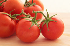 Vine tomatoes. Close up of several vine tomatoes Royalty Free Stock Photos