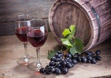 Vine on wooden background Stock Photos