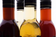 Vinegar bottle Royalty Free Stock Images