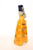 Vinegar bottle. Vinegar in colorful glass carafe Royalty Free Stock Photography