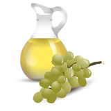 Vinegar bottle with grape Royalty Free Stock Image