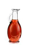 Vinegar bottles isolation on white Stock Images