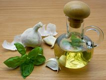 Vinegar flavored. With garlic and basil Royalty Free Stock Image