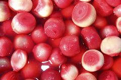 Vinegar onion red spicy texture in market Royalty Free Stock Images