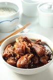 Vinegar pork knuckle. A bowl of vinegar pork knuckle stock images
