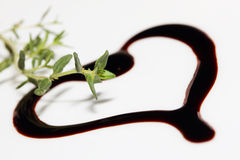Vinegar and thyme Royalty Free Stock Images