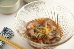 Vinegared Overzeese Komkommer, Japans voedsel stock foto