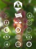 Vinemblem royaltyfri illustrationer