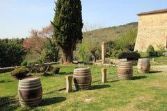 Vinery. Winery near San Gemignano in Italy Stock Photos