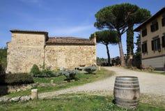 Vinery. Winery near San Gemignano in Italy Royalty Free Stock Photo
