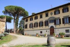 Vinery. Winery near San Gemignano in Italy Royalty Free Stock Photos