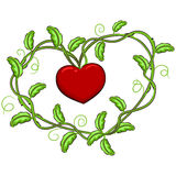 Vines Forming a Heart Shape Royalty Free Stock Image