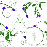Vines and Snails Seamless Pattern Stock Photos