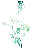 Vines and tree. Illustration drawing of green tree and vines in white background royalty free illustration