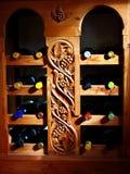 Vines in wooden shelf Stock Images