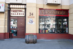 Vinexpert wineshop Arkivfoton