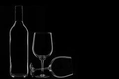 Vinexponeringsglas Arkivbild