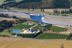 Vineyard aerial view from Te Mata Peack, New Zealand Stock Photos
