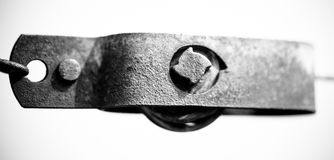 Vineyard detailed metal. In black and white Royalty Free Stock Photo