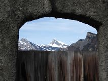 vineyard gate in Maienfeld Switzerland Stock Photography