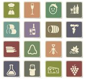 Vineyard icon set Royalty Free Stock Photography