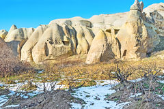 The vineyard. Located at the mountain foot in the Rose Valley, Cappadocia, Turkey Royalty Free Stock Photos