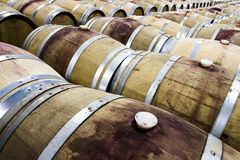 The Vineyard Red Wine Barrel Room Stock Photo