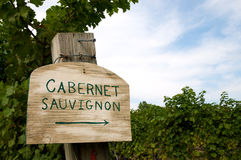Vineyard sign Stock Photo