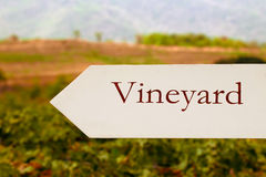 Vineyard sign Stock Photos