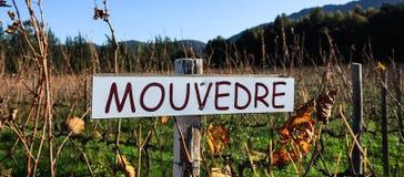 Vineyard sign Stock Photo