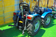 Vineyard tractor. Exhibition vehicles at agricultural fair, photography Stock Image