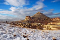 Vineyard Valley. Winter Shot of Vineyard Valley in Cappadocia (Turkey Stock Photography