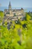 Vineyard and village of Saint-Emilion Royalty Free Stock Photos