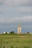 Vineyard and village of Saint-Emilion Stock Photo