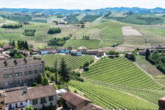 Vineyards and hills in Barbaresco zone, Italy Stock Photos