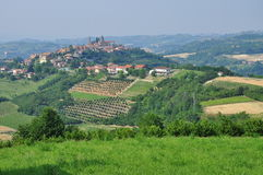 Vineyards and hills of the Langhe region. Piemonte, Italy Stock Images