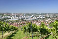 Vineyards and industrial settlements, Stuttgart Stock Photo