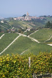 The vineyards landscape of the Langhe hills Royalty Free Stock Photography