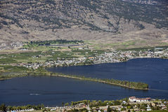 Vineyards by Osoyoos Lake Stock Photography