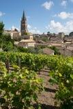 View of Saint Emilion village in Bordeaux region in France. Vineyards at Saint Emilion city center, France stock photography