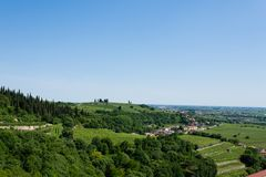 Vineyards from Soave.Italian wine. Vineyards from Soave, famous wine area. Italian countryside royalty free stock images