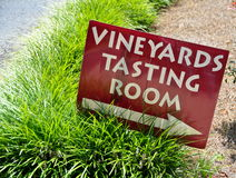 Vineyards Tasting Room Sign Stock Images