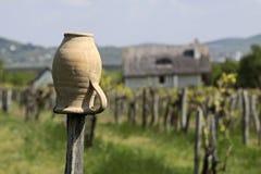 Vineyards and village church at Lake Balaton royalty free stock images