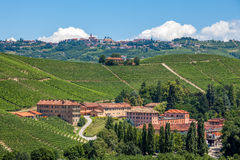 Vineyards and winery in Piedmont, Italy. Stock Image