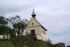 VineyardTroja, Prag, mit Kapelle Lizenzfreies Stockbild