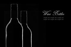 Vinflaskor Arkivfoton