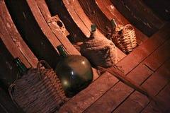 Vinflaskor Arkivfoto