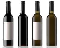 Vinflaskor med etiketten Fotografering för Bildbyråer