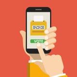 Ving app sullo schermo Immagini Stock Libere da Diritti