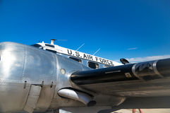Vingage Air Force Passenger Plane Royalty Free Stock Photography